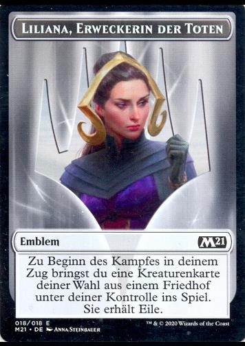Token: Liliana, Erweckerin der Toten Emblem (Liliana, Waker of the Dead Emblem)