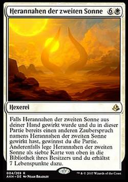 Herannahen der zweiten Sonne (Approach of the Second Sun)