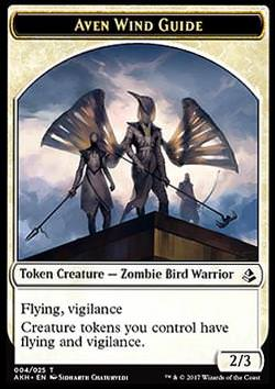 Token: Aven Wind Guide (White 2/3)
