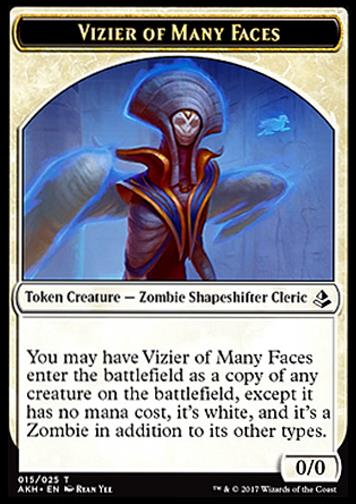 Token: Vizier of Many Faces (White 0/0)