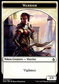 Token: Warrior (White 1/1)