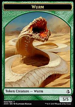 Token: Wurm (Green 5/5)
