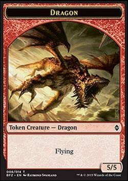 Dragon Token (Red 5/5) (Drachenspielstein (Roter 5/5))