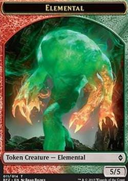 Elemental Token (Green and Red 5/5) (Elemental Token (Green and Red 5/5))