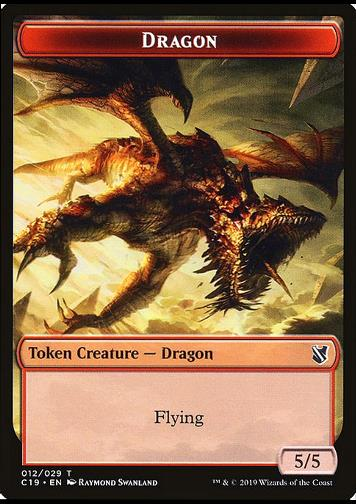 Token Dragon (R 5/5) // Heart-Piercer Manticore