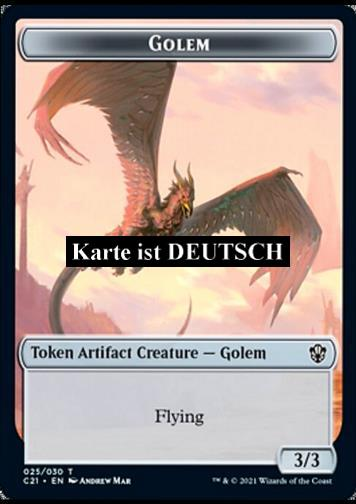 Token - Golem (A 3/3 Flying) // Thopter (A 1/1)