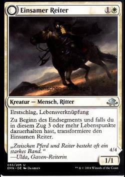 Einsamer Reiter / Eins, das reitet (Lone Rider / It That Rides as One)