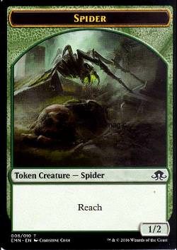 Token: Spinne (Grün 1/2)