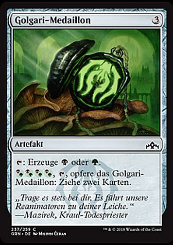 Golgari-Medaillon (Golgari Locket)