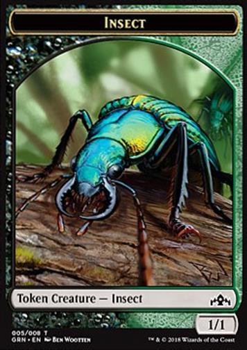 Token Insekt  (Black and Green 1/1) (Insect)
