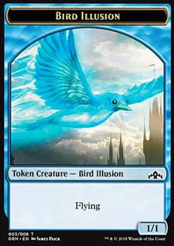 Token Vogel Illusion  (Blue 1/1) (Bird Illusion)