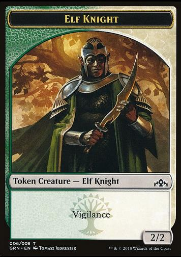 Elf Knight Token (Green and White 2/2) (Token Elf Ritter)