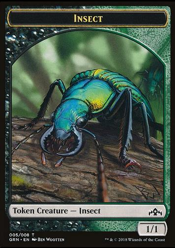 Insect Token (Black and Green 1/1) (Token Insekt)