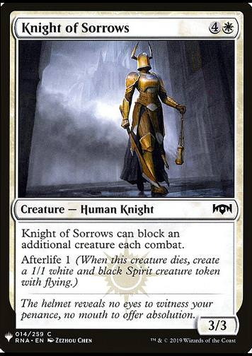 Knight of Sorrows (Ritterin des Kummers)