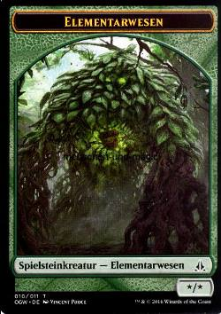 Token Elemental (Green */*)