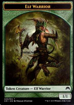 Token: Elf Warrior (Green 1/1)
