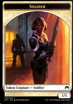Token: Soldier (White 1/1)