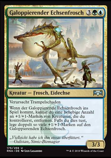 Galoppierender Echsenfrosch (Galloping Lizrog)