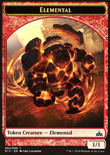 Token Elemental (2) red 1/1