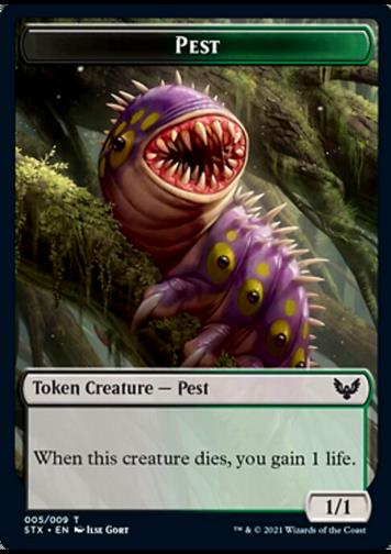 Token - Pest (Black and Green 1/1)