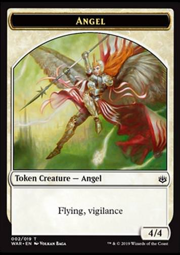 Token Angel (White 4/4 Vigilance)