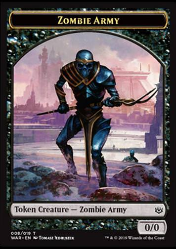 Token Zombie Army 1 (Black 0/0)