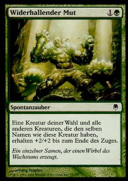 Widerhallender Mut (Echoing Courage)