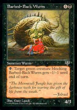 Barbed-Back Wurm (Stachelwurm)