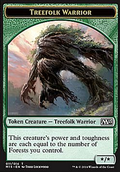 Token: Treefolk Warrior (Green */*)